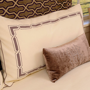Wyatt embroidered bed